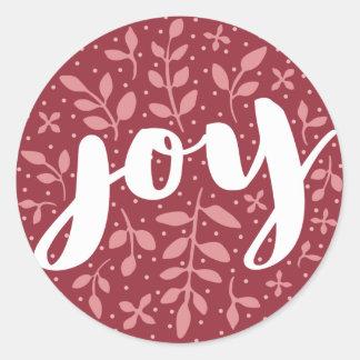 Artful Joy Holiday Sticker | Burgundy