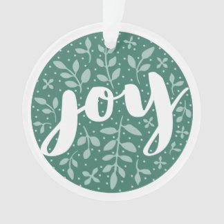 Artful Joy Personalized Holiday Ornament