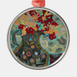 Artful Jug Silver-Colored Round Decoration