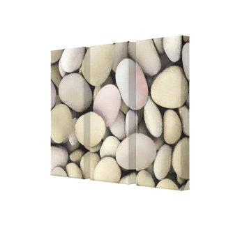 Artful Stones Canvas Art Triptych Gallery Wrapped Canvas