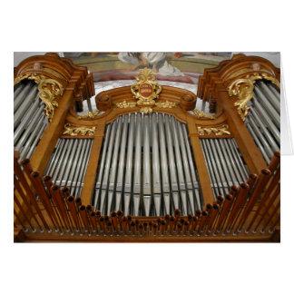 Arth-Oberarth organ, Switzerland Greeting Card