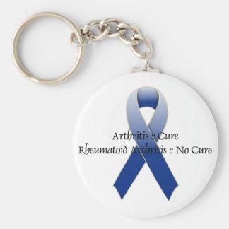 Arthritis Blue Ribbon Awareness Design 4 Key Chains