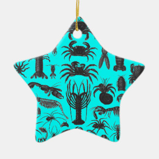 Arthropoda: spiders, crabs, lobsters B&W pattern Christmas Ornament