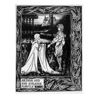Arthur and the strange mantle postcard