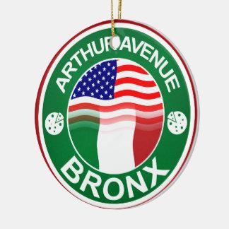 Arthur Ave Bronx Italian American Round Ceramic Decoration