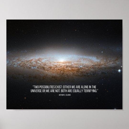 Arthur C. Clarke Quote Poster