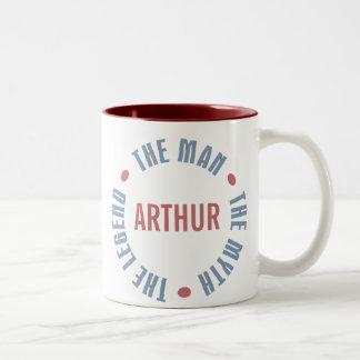 Arthur Man Myth Legend Customizable Two-Tone Coffee Mug