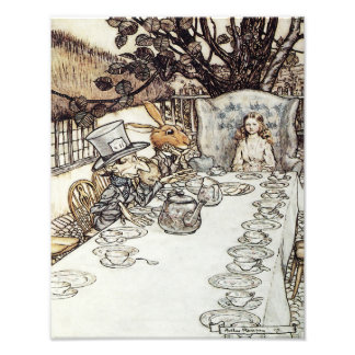 "Arthur Rackham 1907 ""The Mad Tea Party"" Print Photographic Print"