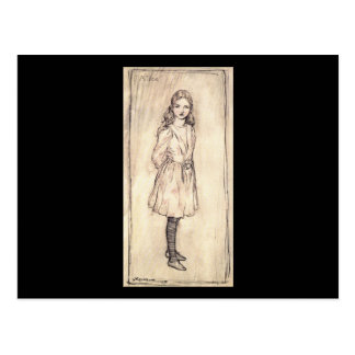 Arthur Rackham Alice In Wonderland Postcard
