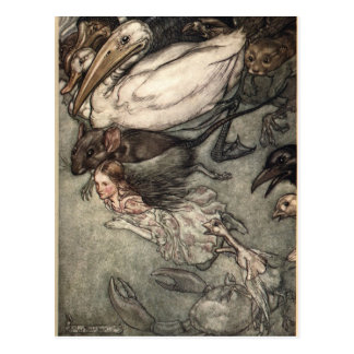 Arthur Rackham Illustration Alice In Wonderland Postcard