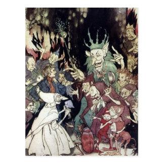 Arthur Rackham King Of Trolls Illustration Postcard