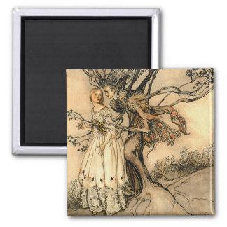 Arthur Rackham - Old Woman in the Wood Fridge Magnets