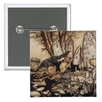 Arthur Rackham | Peter Pan in Kensington Gardens 15 Cm Square Badge