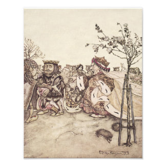 Arthur Rackham Queen Shouting Alice In Wonderland Photo Print