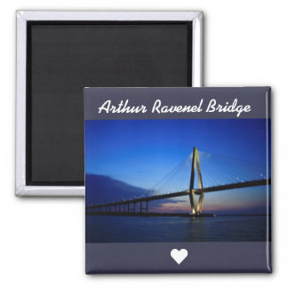 Arthur Ravenel Bridge Square Magnet