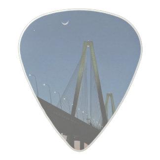 Arthur Ravenel Jr. Bridge at Dusk Acetal Guitar Pick