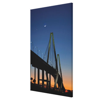 Arthur Ravenel Jr. Bridge at Dusk Canvas Print