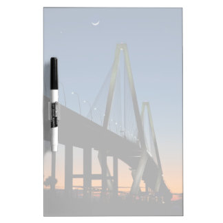 Arthur Ravenel Jr. Bridge at Dusk Dry Erase Board