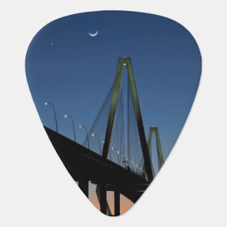 Arthur Ravenel Jr. Bridge at Dusk Guitar Pick