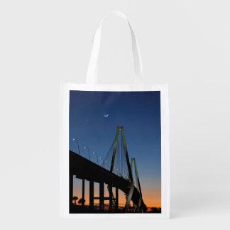 Arthur Ravenel Jr. Bridge at Dusk Reusable Grocery Bag