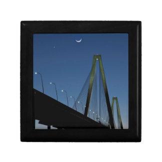 Arthur Ravenel Jr. Bridge at Dusk Small Square Gift Box