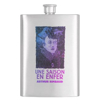 Arthur Rimbaud Hip Flask