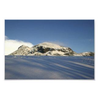 Arthur s Seat Under Snow Photographic Print