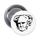 Arthur Schopenhauer Portrait 6 Cm Round Badge