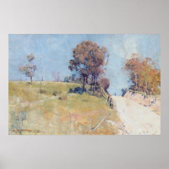 Arthur Streeton - Sunlight (Cutting on a hot