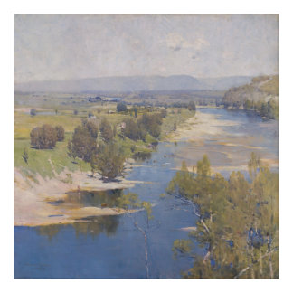 Arthur Streeton - 'The purple noon's transparent m Poster