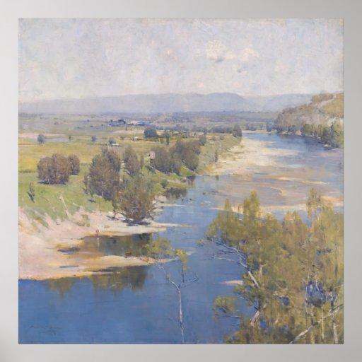 Arthur Streeton - 'The purple noon's transparent m