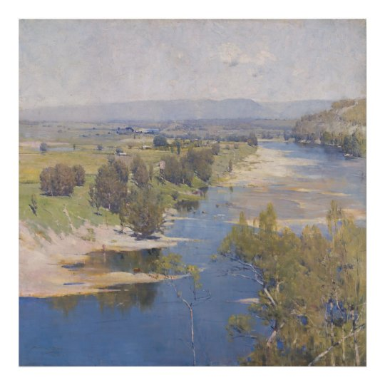Arthur Streeton - 'The purple noon's transparent m