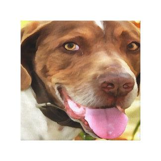 Arthur The Hunting Dog Canvas Print