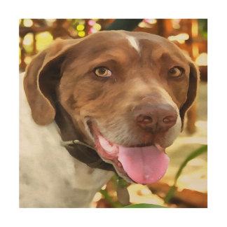 Arthur The Hunting Dog Wood Canvas