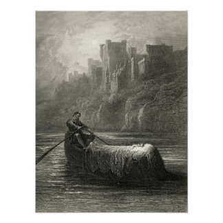 Arthurian legend: The Body of Elaine Poster