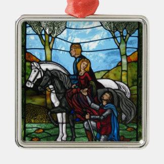 Arthurian Window Christmas Ornament