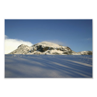 Arthur's Seat Under Snow Photographic Print
