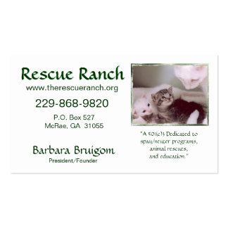 Artic & babes 2 frms, Rescue Ranch, Rescue ... Double-Sided Standard Business Cards (Pack Of 100)