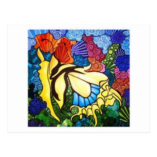 Artichicks art on a postcard Abstract butterfly