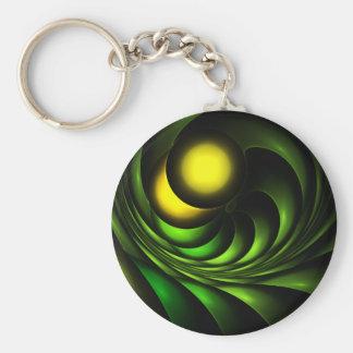 Artichoke Abstract Fractal Artwork Key Chains