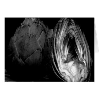 Artichoke Note Cards - Black and White