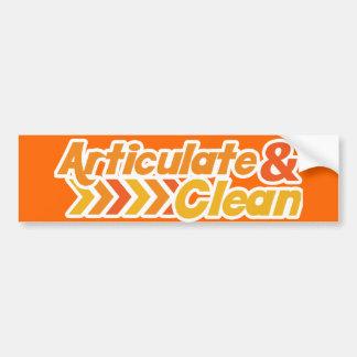 Articulate and Clean Bumper Sticker