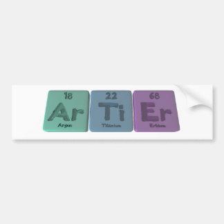Artier-Ar-Ti-Er-Argon-Titanium-Erbium Bumper Sticker
