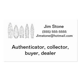 Artifact collector business card