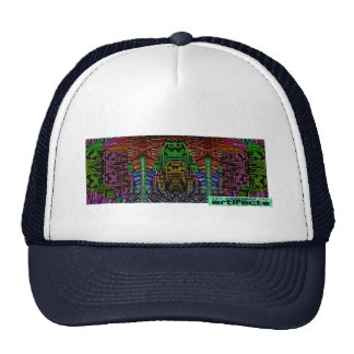 artifacts - 8 bit hero in front of a mountain cap