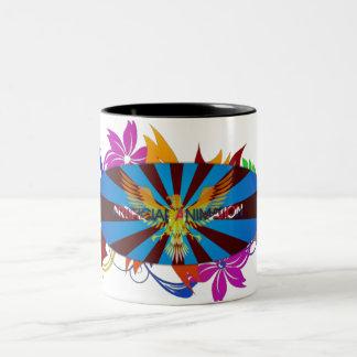 Artificial Animation Two Tone splash mug