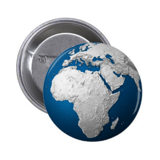 Artificial Earth - Africa. 3d Render 6 Cm Round Badge