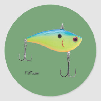 Artificial Fish Baits by FishTs Classic Round Sticker