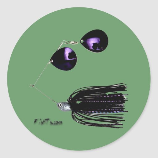Artificial Fishing Baits Round Sticker