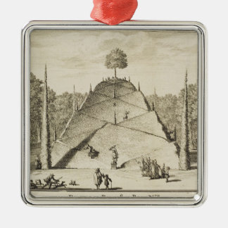 Artificial Mount Parnassus, engraved by Johannes V Christmas Ornament